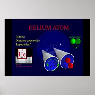 Isótopo del helio: Diprotón (impresión) Póster
