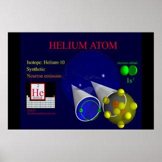 Isótopo Helium-10 (impresión) Póster
