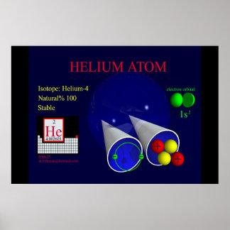 Isótopo Helium-4 (impresión) Póster