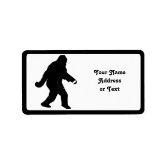 iSquatch (Add Background Color) Address Label
