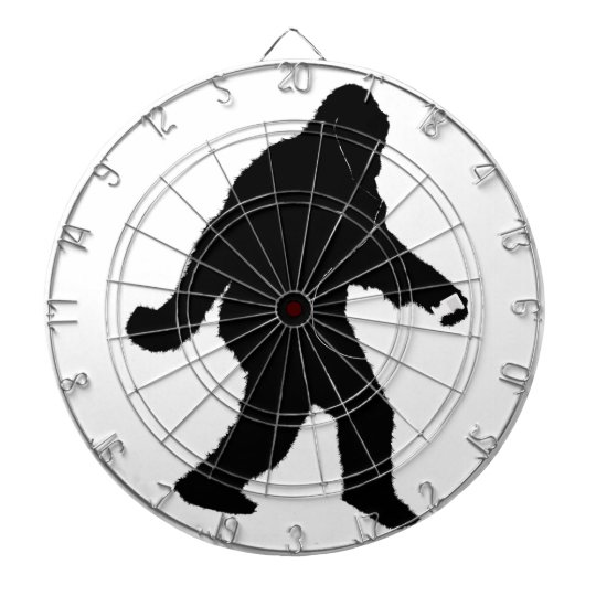 iSquatch (Add Background Color) Dartboard With Darts