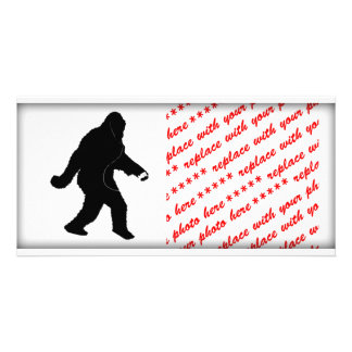 iSquatch (Add Background Color) Personalized Photo Card