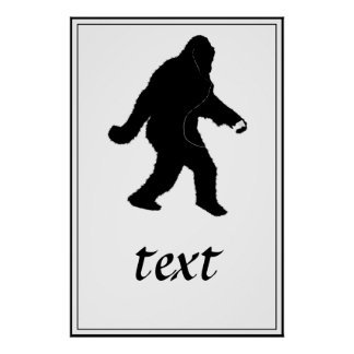 iSquatch (Add Background Color) Posters