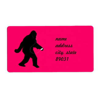 iSquatch (Change Background Color) Custom Shipping Labels