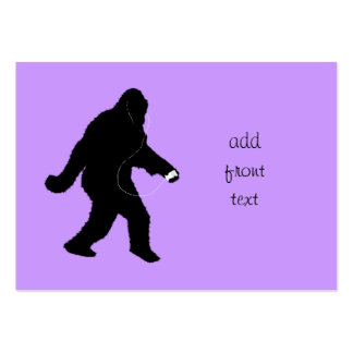 iSquatch (Change Background Color) Large Business Cards (Pack Of 100)