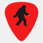 iSquatch (color de fondo del personalizar) Púa De Guitarra