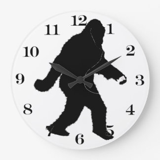 iSquatch (color de fondo del personalizar) Reloj Redondo Grande