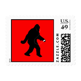 iSquatch ( Customize Background Color) Postage