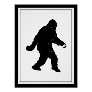 iSquatch ( Customize Background Color) Perfect Poster