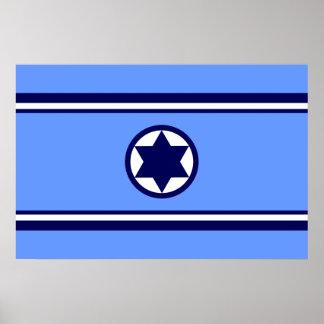 Israel Air Force, Israel flag Poster