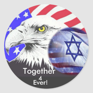 Israel And America Classic Round Sticker