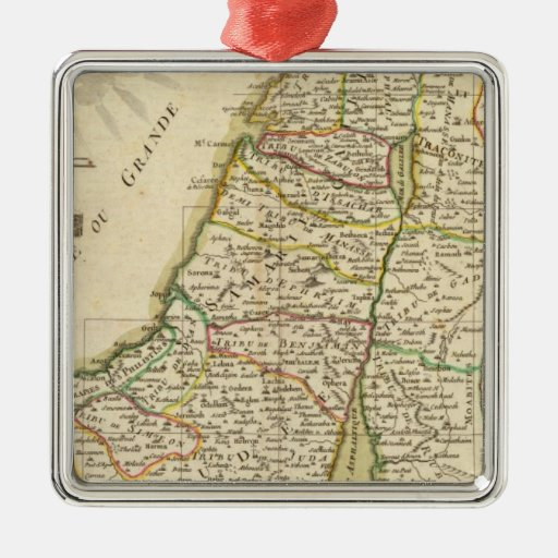 Israel and Palestine 3 Christmas Tree Ornaments
