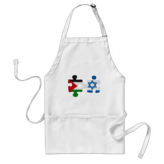 Israel and Palestine Conflict Flag Puzzle Adult Apron