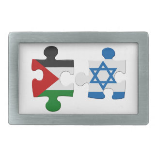 Israel and Palestine Conflict Flag Puzzle Belt Buckle