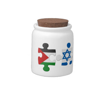Israel and Palestine Conflict Flag Puzzle Candy Dish