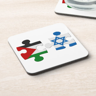 Israel and Palestine Conflict Flag Puzzle Drink Coaster