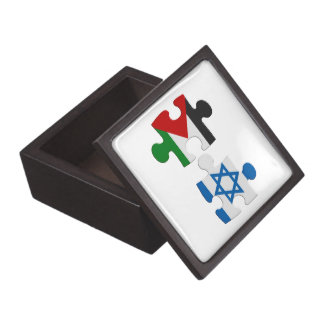 Israel and Palestine Conflict Flag Puzzle Jewelry Box