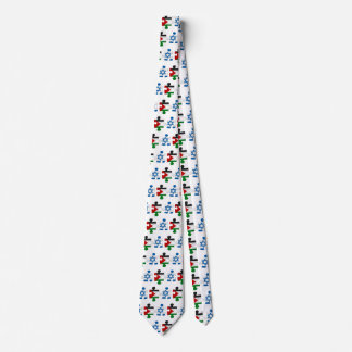 Israel and Palestine Conflict Flag Puzzle Neck Tie