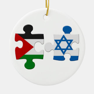 Israel and Palestine Conflict Flag Puzzle Ornament