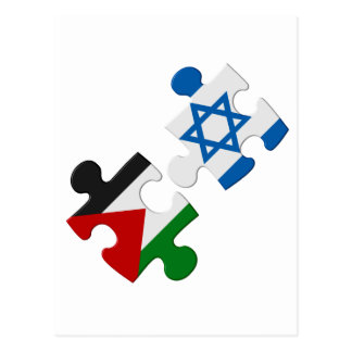Israel and Palestine Conflict Flag Puzzle Postcard