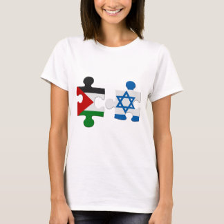 Israel and Palestine Conflict Flag Puzzle T-Shirt