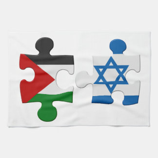 Israel and Palestine Conflict Flag Puzzle Towels