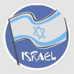 ISRAEL AND PROUD CLASSIC ROUND STICKER