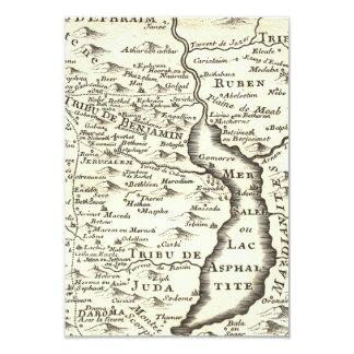 Israel Antique Map Bar Mitzvah RSVP Response Card