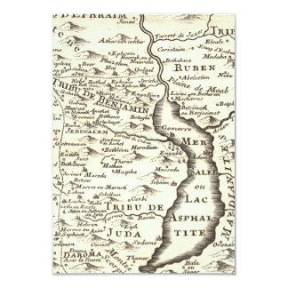 Israel Antique Map Bar Mitzvah RSVP Response 3.5x5 Paper Invitation Card