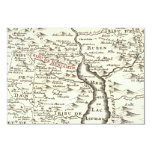 Israel Antique Map Benjamin Bar Mitzvah Thank You 3.5x5 Paper Invitation Card