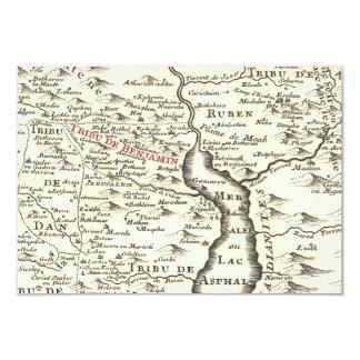 Israel Antique Map Benjamin Bar Mitzvah Thank You Custom Announcement