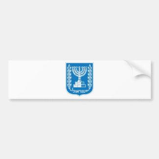 israel_armoiries coat of arm. car bumper sticker