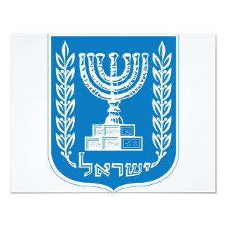 israel_armoiries coat of arm. card