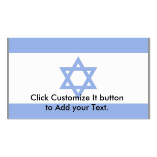 Israel (Bordered), Isle of Man flag Double-Sided Standard Business Cards (Pack Of 100)