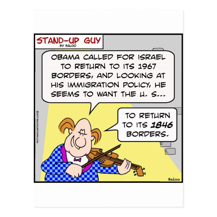 israel borders obama 1967 1849 return palestinians postcard