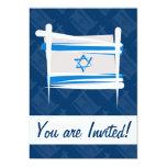 Israel Brush Flag 5x7 Paper Invitation Card