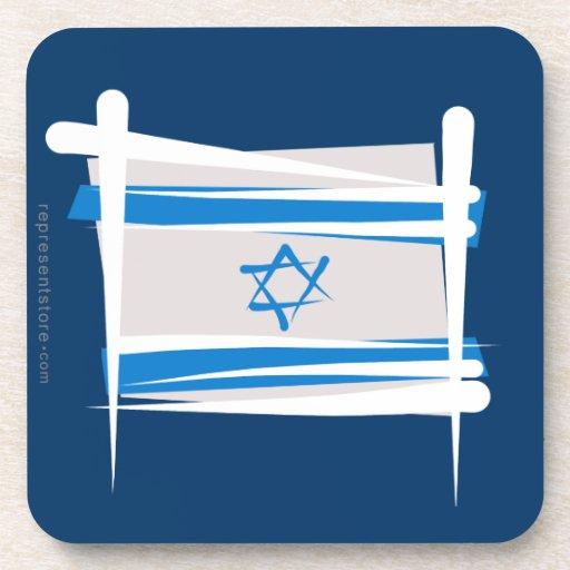 Israel Brush Flag Coaster