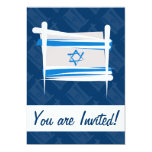 Israel Brush Flag Custom Announcements