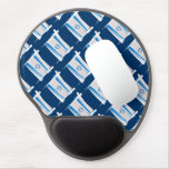 Israel Brush Flag Gel Mouse Pad