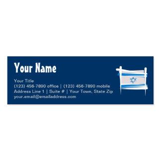 Israel Brush Flag Mini Business Card