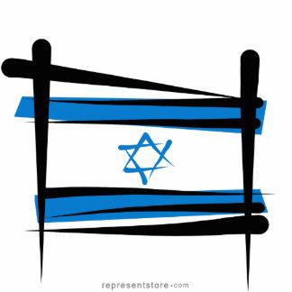 Israel Brush Flag Statuette