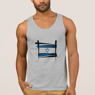 Israel Brush Flag Tank Top
