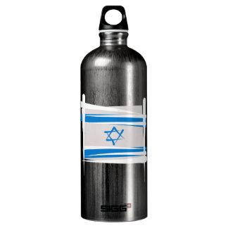 Israel Brush Flag Water Bottle