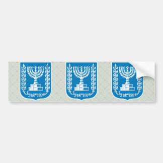 Israel Coat of Arms detail Bumper Sticker