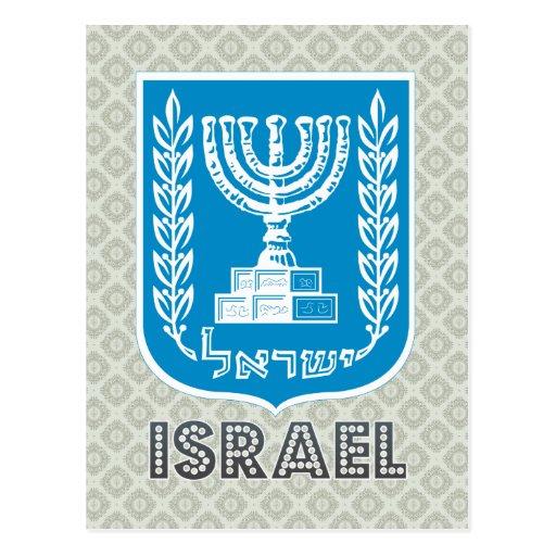 Israel Coat of Arms Postcard
