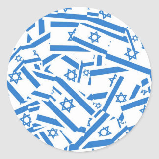 Israel Collage Classic Round Sticker