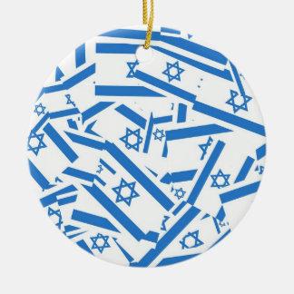 Israel Collage Christmas Tree Ornaments