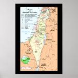 Israel - comprensión de los conflictos del límite poster