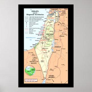 Israel - comprensión de los conflictos del límite póster