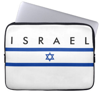 Israel country flag jew nation symbol name text laptop sleeve